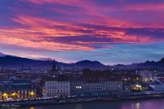 Nuage en feu sur Grenoble